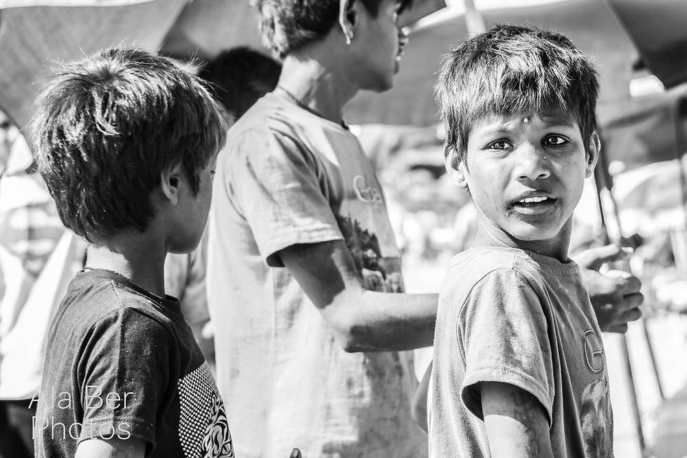Boys selling on Baga beach