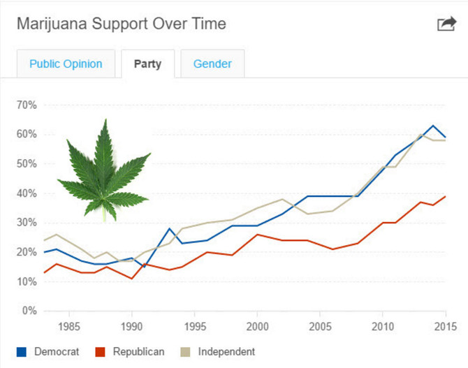 Would You Vote For Legalized Marijuana? It Looks Like Everyone Is Leaning That Way.
