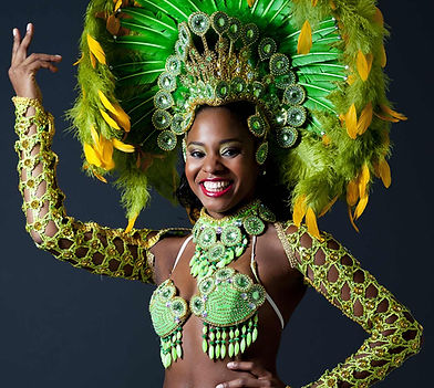 Samba dancer in headdress