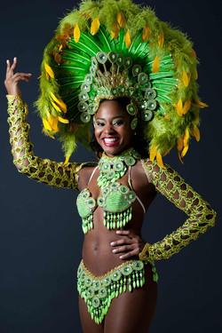 Samba dancer in headdress