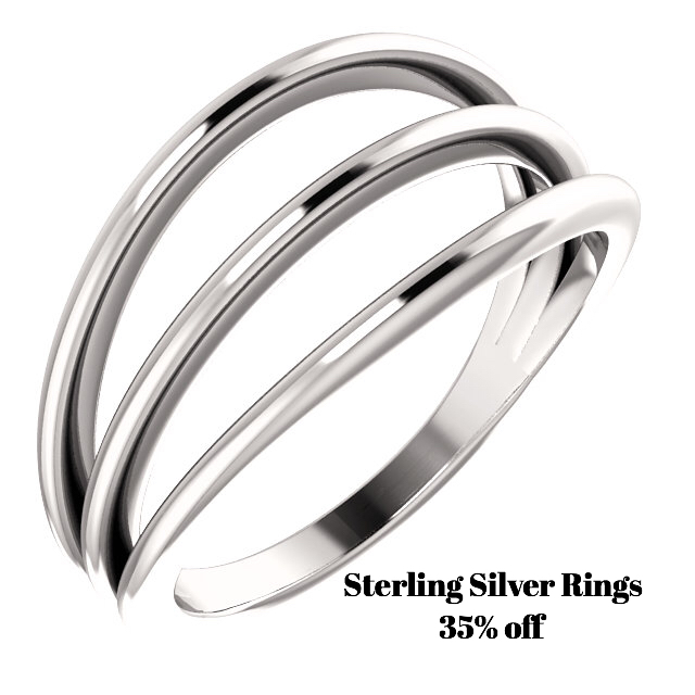 All sterling silver rings 35% off