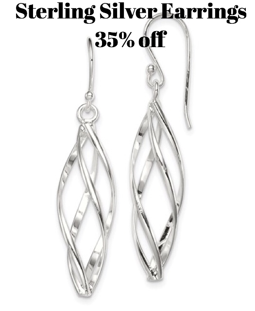 All sterling silver earrings 35% off