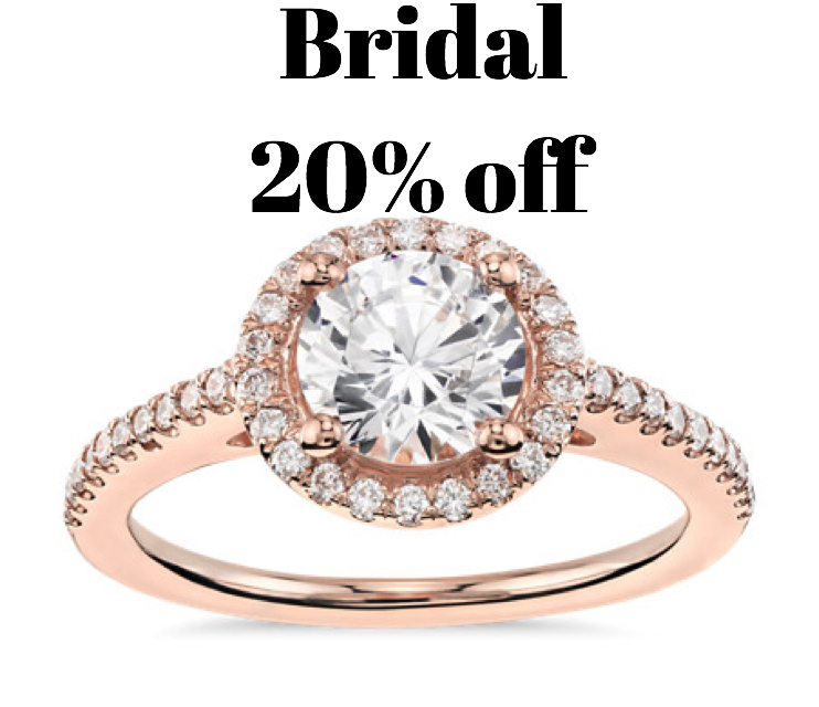 All engagement rings&bands 20% off