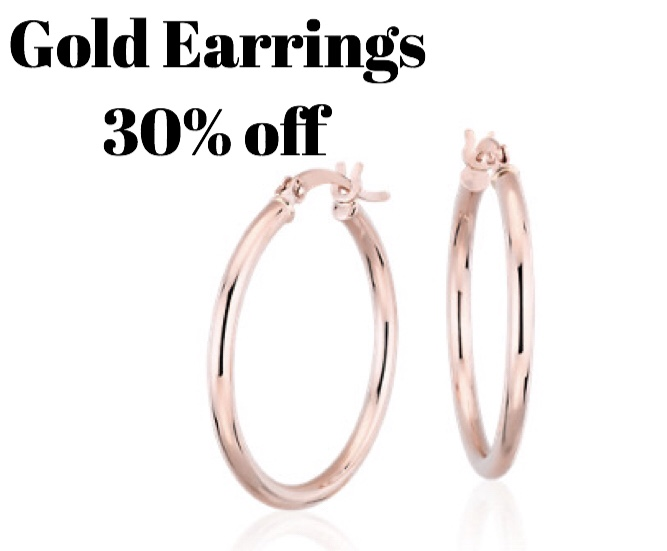 All gold earrings 30% off