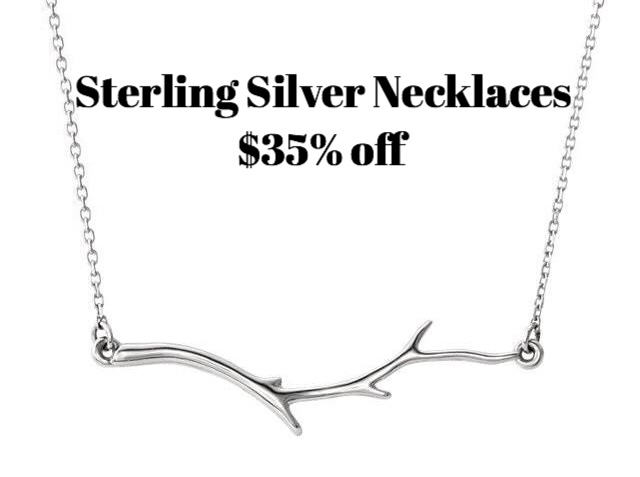 All sterling silver necklaces 35%