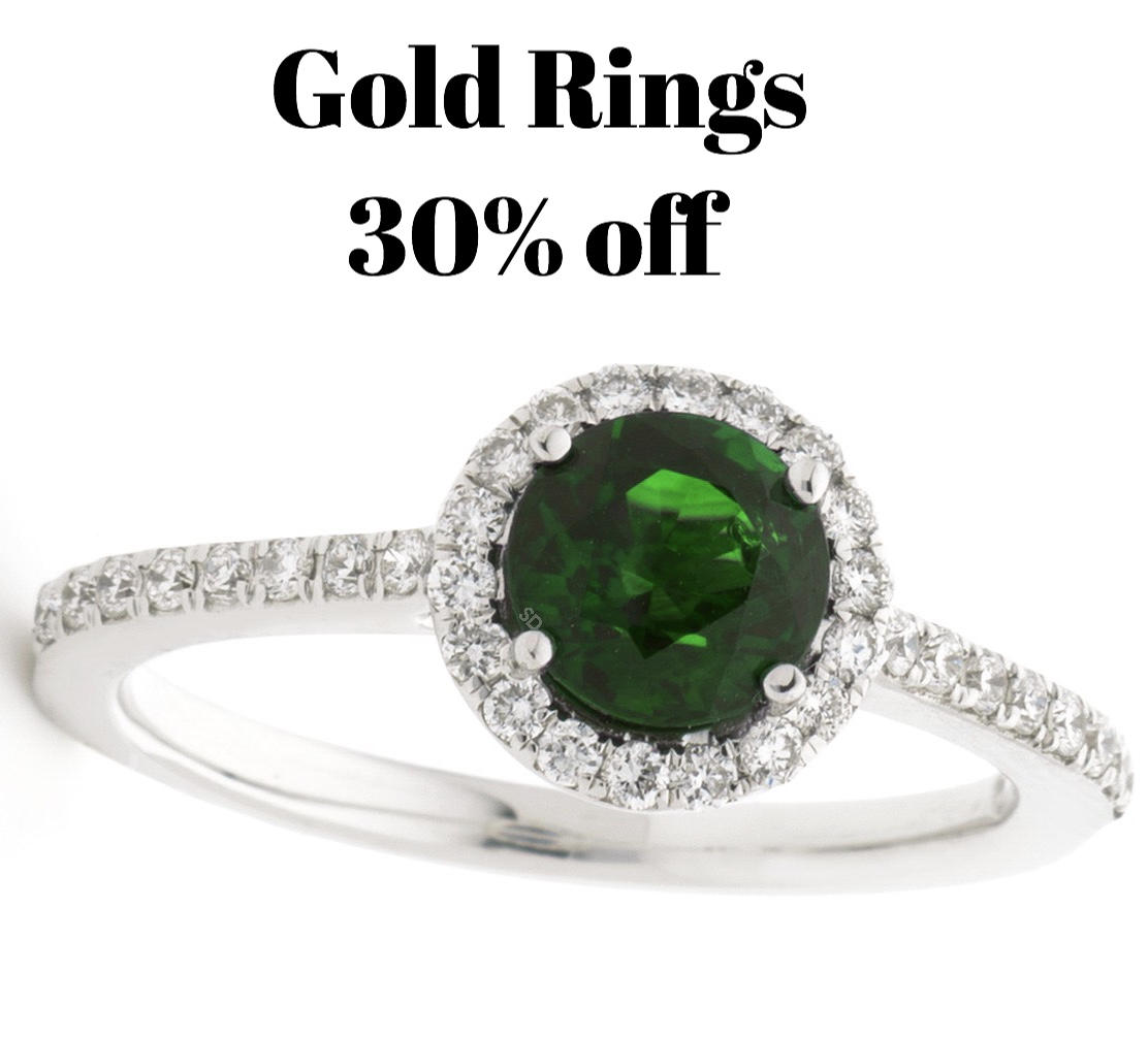 All gold fashion rings 30% OFF