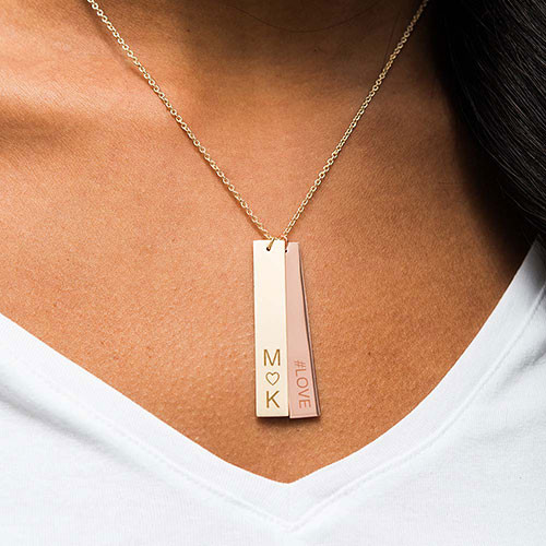 rectangle tag pendant