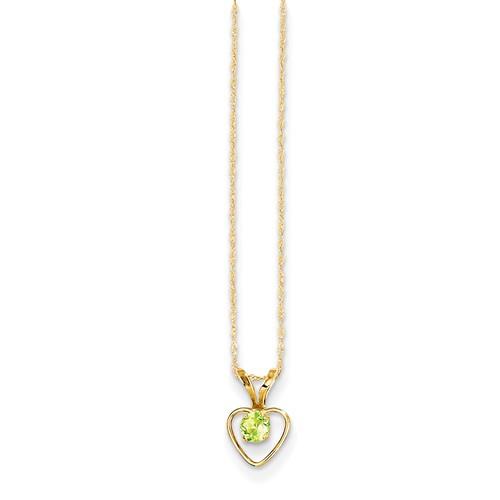 10 karat gold birthstone pendants
