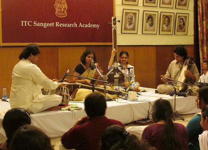 Sudakshina in Prestigious Sangeet Research Academy, India