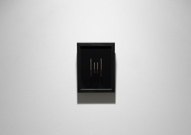 Reordered String, 2019 Chromogenic print, bronze string, framed 13 x 18 cm Unique