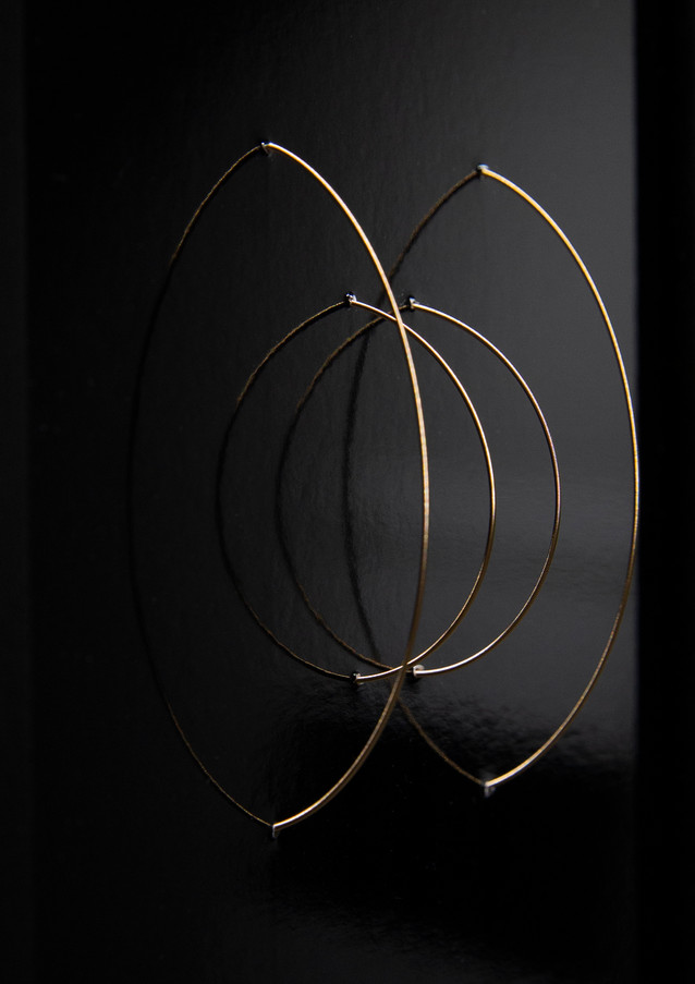 Reordered String, 2019 Chromogenic print, bronze string, framed 13 x 18 cm Unique