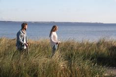 e-floater couple at the sea beach