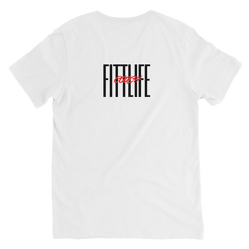 Short Sleeve V-Neck T-Shirt Fitt Life Coach