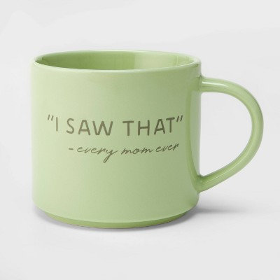 "16oz Porcelain "" I saw that"" Mug By Threshold"