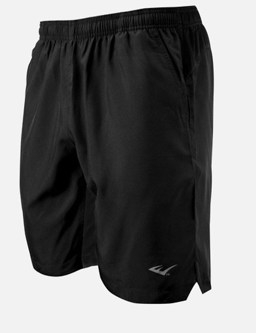 Men's Everlast Sport Athletic Shorts Gray & Black Rear ZIPPER Pocket