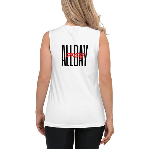 Women's Tank Shirt All Day Strong White