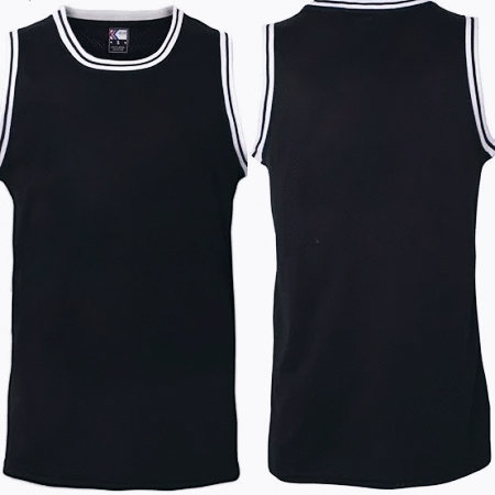 Black Workout Jersey Fast Dri