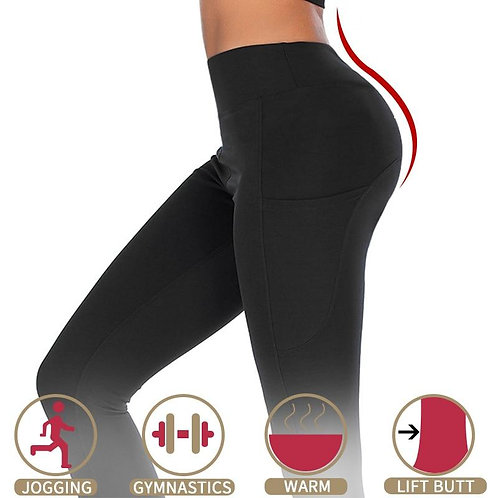 Leggings With Pocket Mid Waist Fitness Legging Women Seamless Perfect