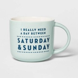 "Porcelain ""Saturday & Sunday"" Mug-Thresold"