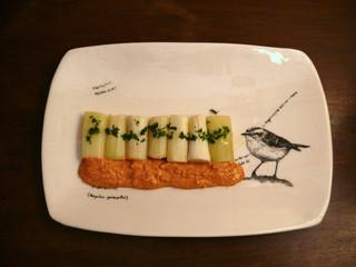 La cucina di Selvabella: Porri arrostiti con salsa romesco