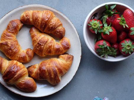 Hoy de desayuno Croissant caseros!