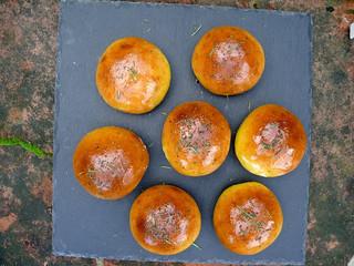 La cocina de Selvabella: panecillos de calabaza con sal y romero