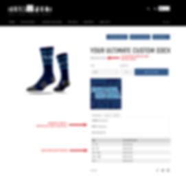 Team Feet custom sock product page
