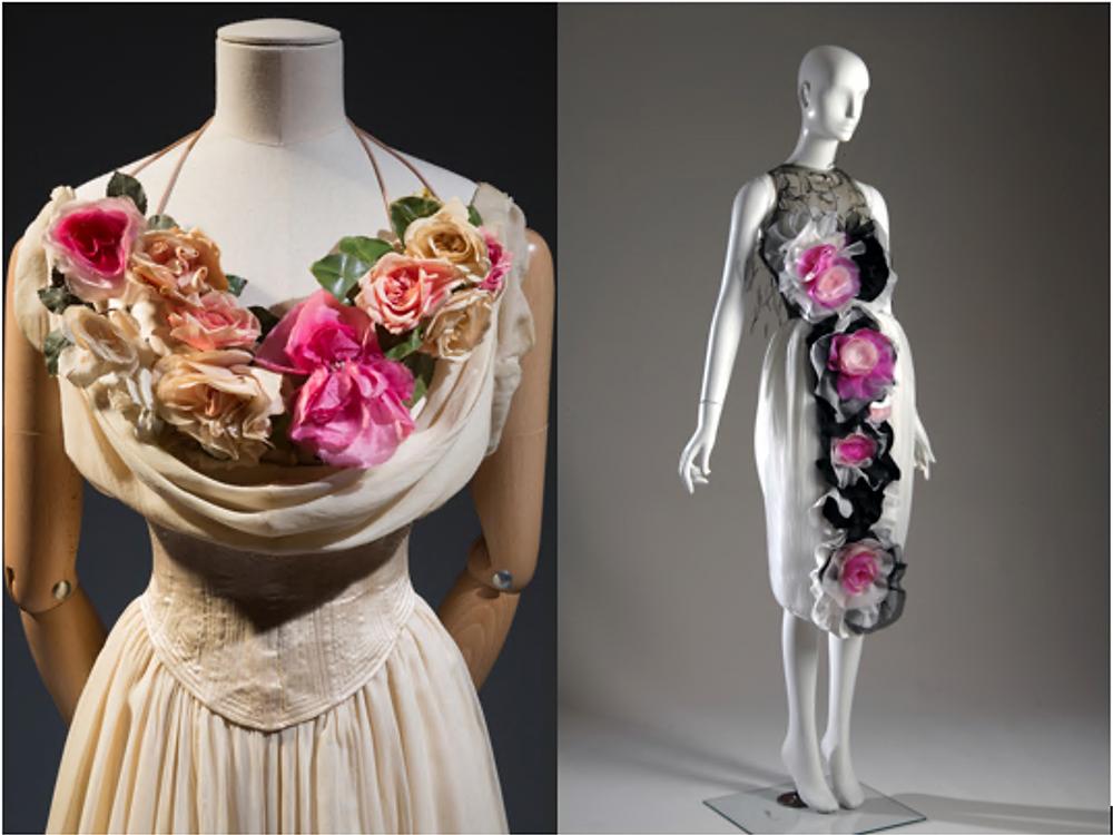 Charles James debutante dress and Rodarte evening dress
