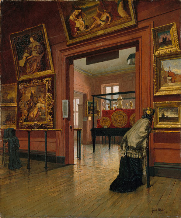 "Painting ""The Metropolitan Museum of Art when in Fourteenth Street"" by Frank Waller,  1881"
