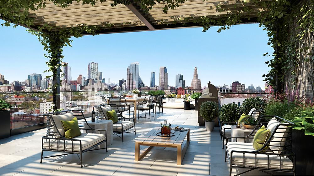 Six Garfield rooftop views - Park Slope Brooklyn