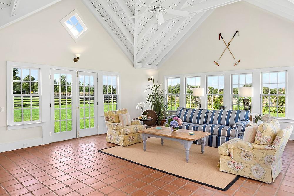 Living room, 18th farmhouse, The Hamptons