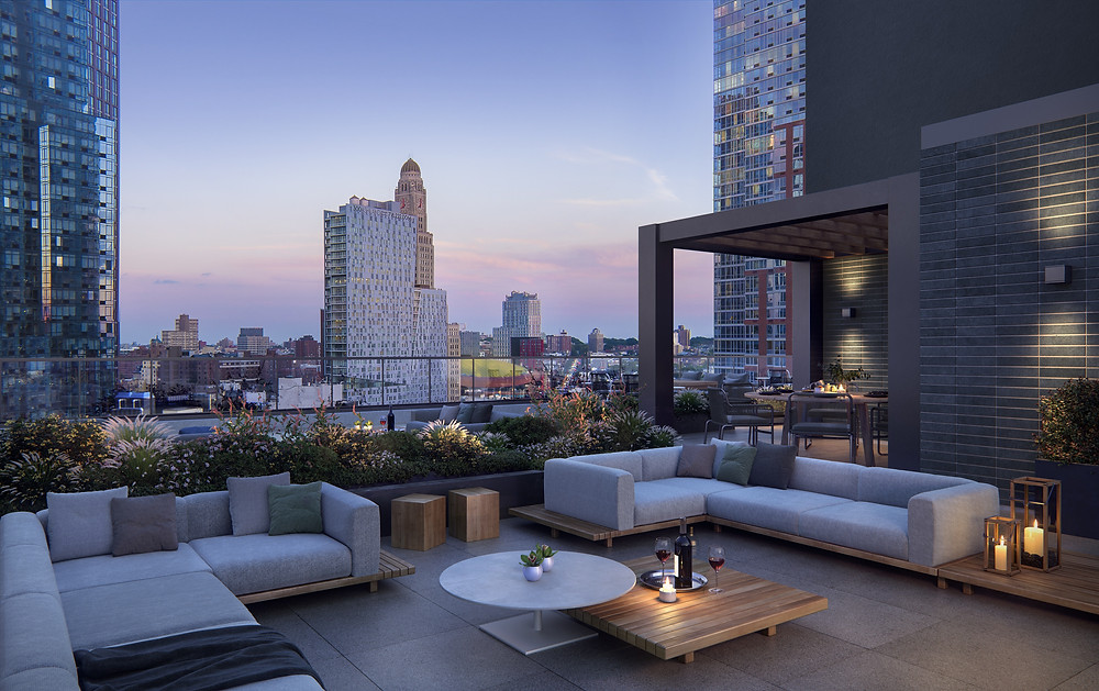 The Brooklyn Grove rooftop views - Fort Green Park
