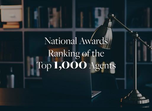 National Awards Ranking of the Top 1,000 Agents