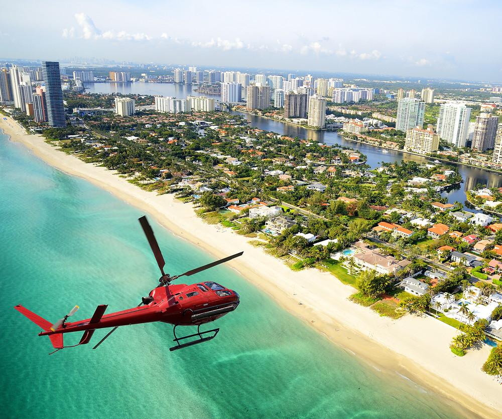 Miami Waterfront - helicopter Techrin Hijazi