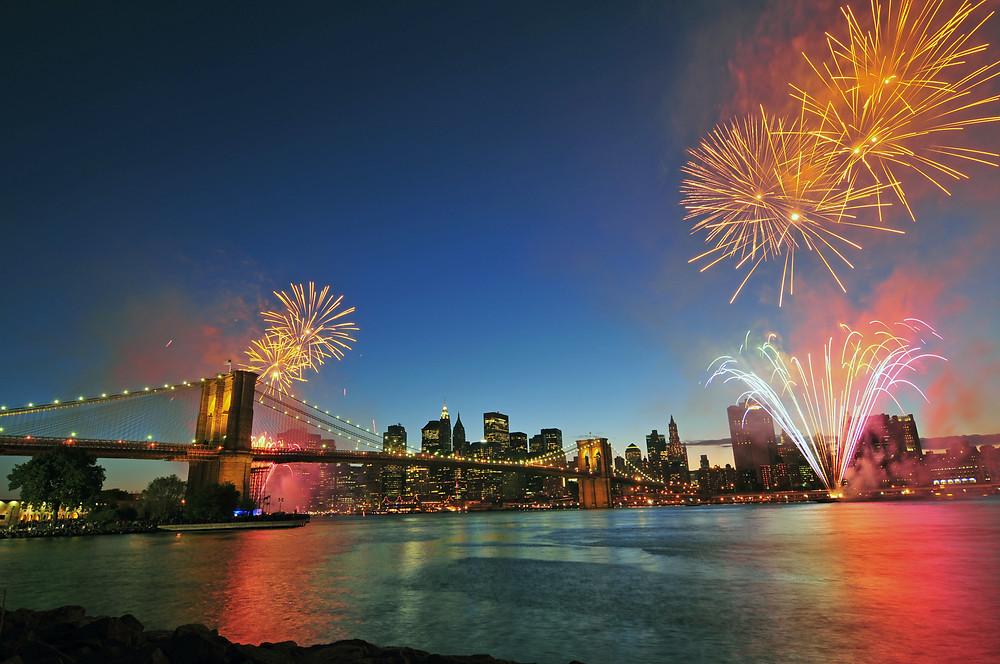 New York City Returns, Fireworks