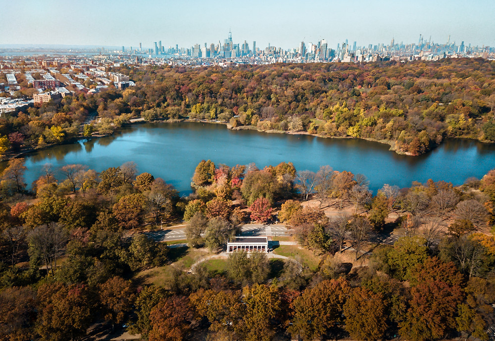 Prospect Park, aerial view
