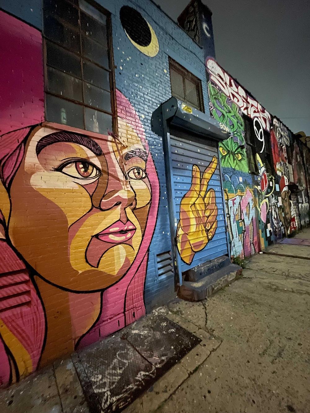 Street art in Bushwick, Brooklyn