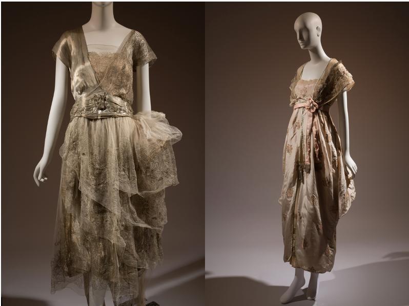 Boué Soeurs evening dress and Lucile evening dress