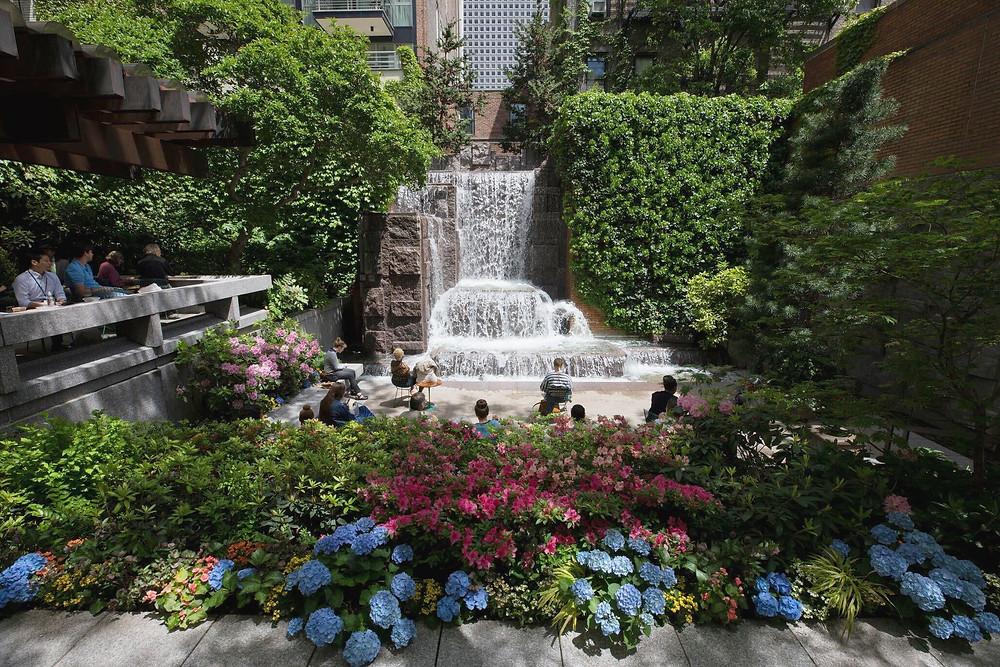 Greenacre Park in Midtown, Manhattan