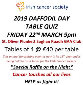 Irish Cancer Society Table Quiz