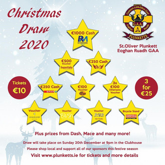 Plunketts Christmas Draw 2020