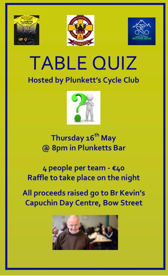 SOPER Cycling Table Quiz
