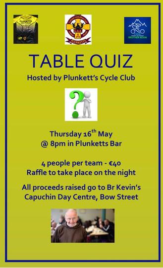 SOPER Cycling Table Quiz