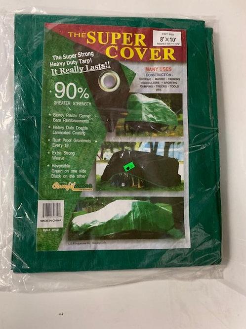 8' x 10'Heavy Duty Green/Black Tarpaulin
