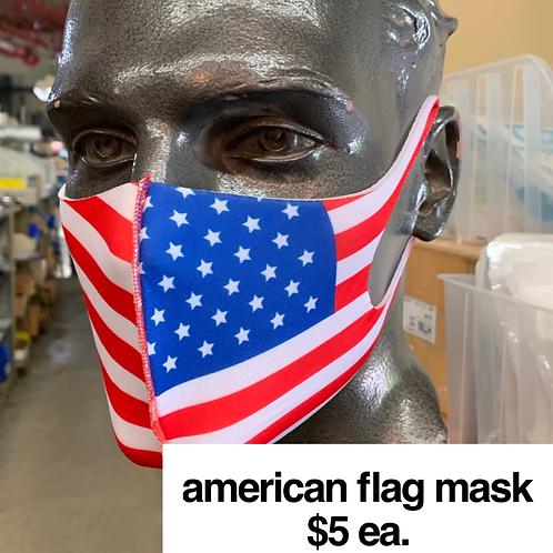 American Flag Print Mask
