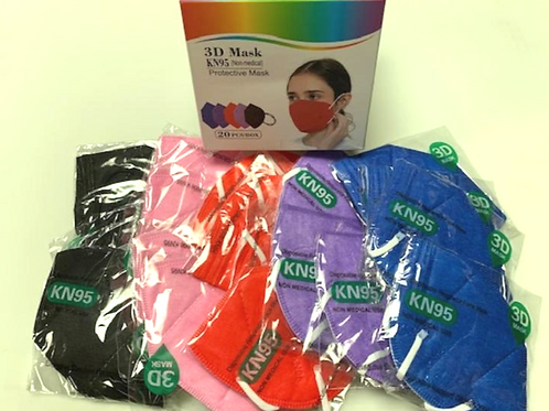 Box of 20 Colored KN95 Masks