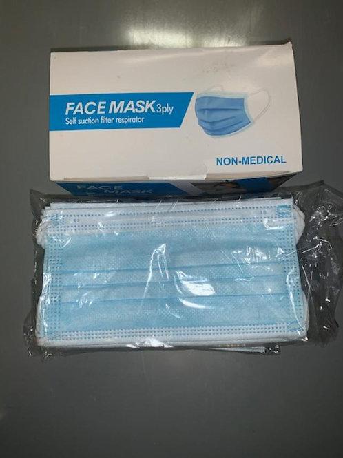 2 Boxes of Blue Surgical masks (100 masks)
