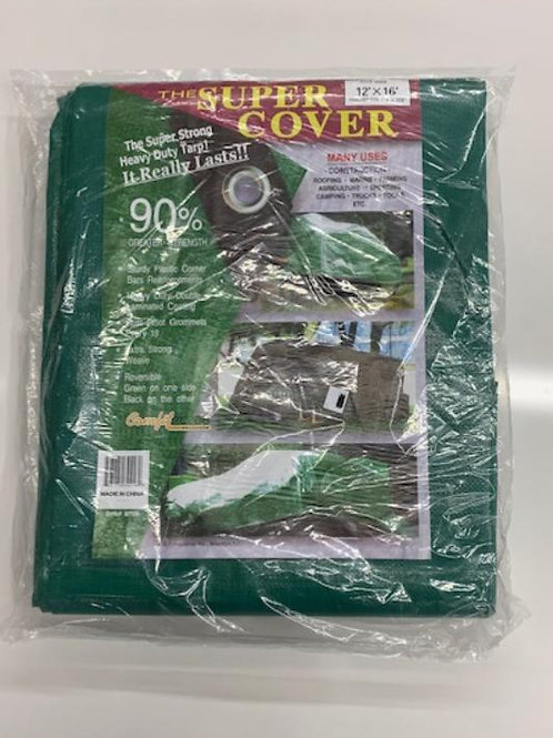 12' x 16' Heavy Duty Green/Black Tarp