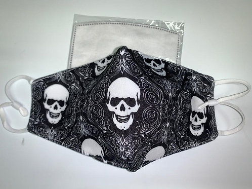 Black Skull Mask w/Charcoal filters