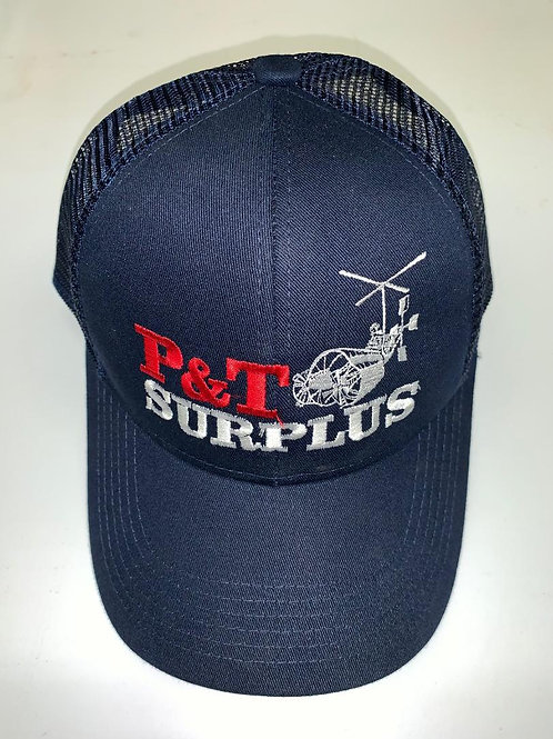 Blue baseball/golf hat P&T Surplus logo